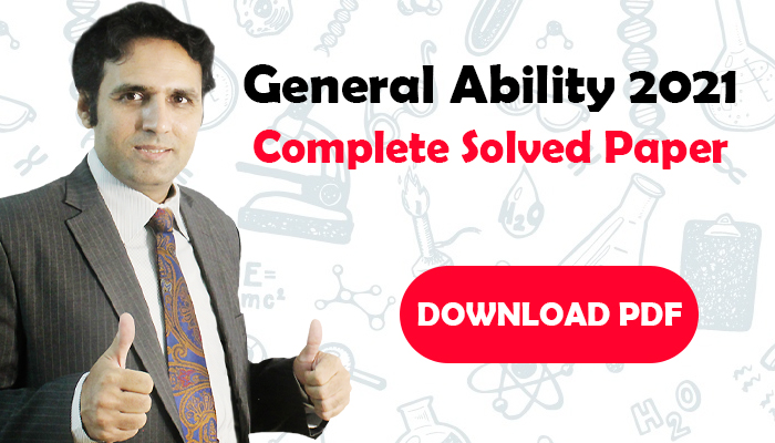 General Ability 2021 Solved Paper Download PDF
